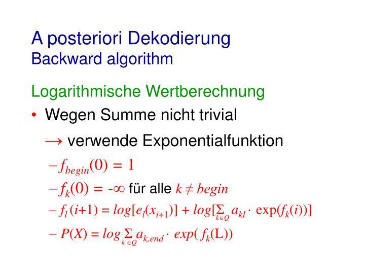 A posteriori Dekodierung