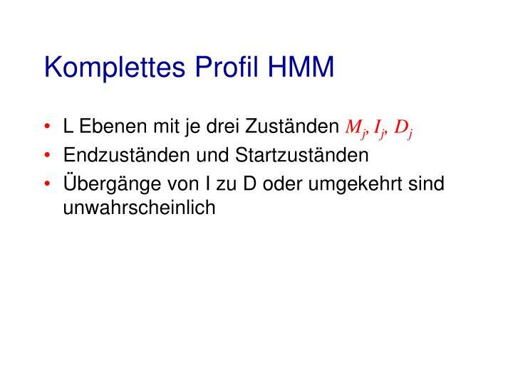 Komplettes Profil HMM