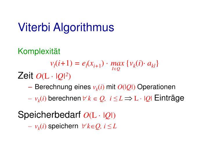 Viterbi Algorithmus
