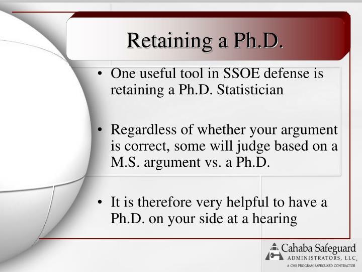Retaining a Ph.D.