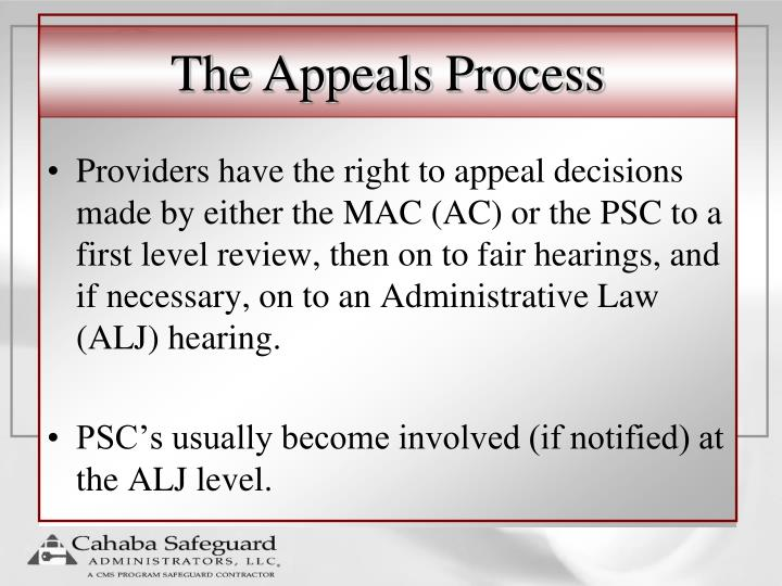 The Appeals Process