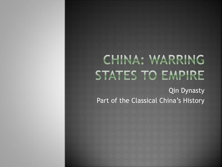 China warring states to empire