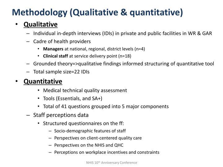 Methodology (Qualitative & quantitative)