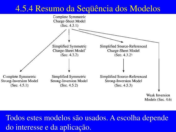 4.5.4 Resumo da Seqüência dos Modelos