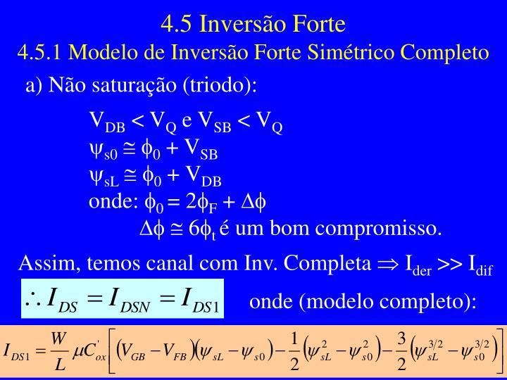 4.5 Inversão Forte