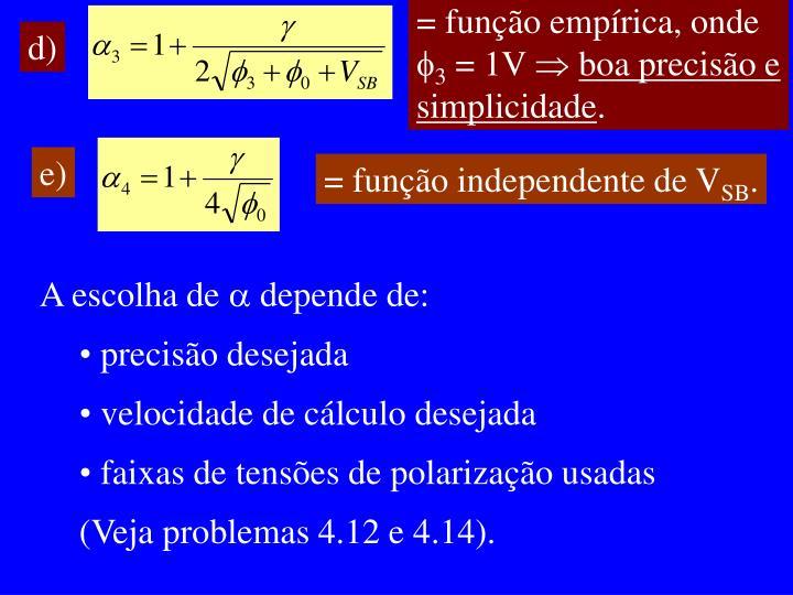 = função empírica, onde