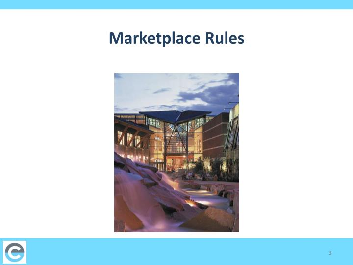 Marketplace rules