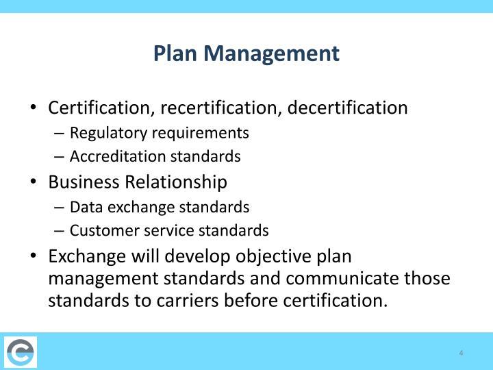 Plan Management
