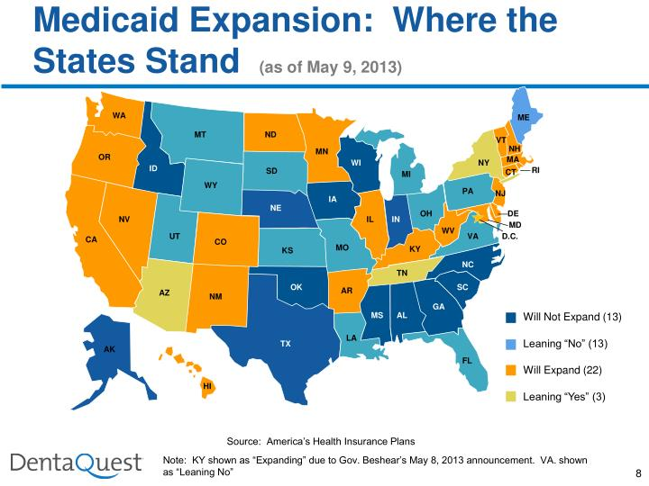 Medicaid Expansion:  Where the States Stand