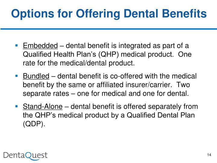 Options for Offering Dental Benefits