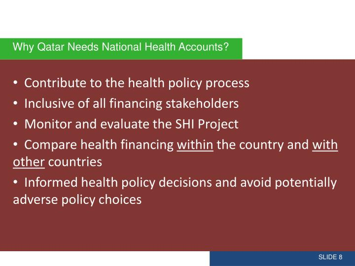 Contribute to the health policy process