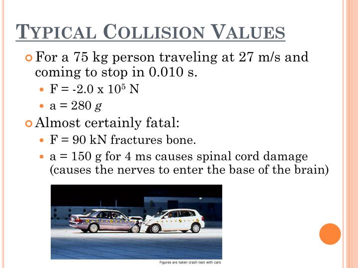 Typical Collision Values