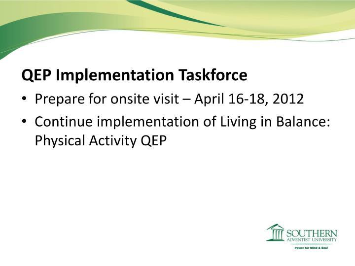 QEP Implementation