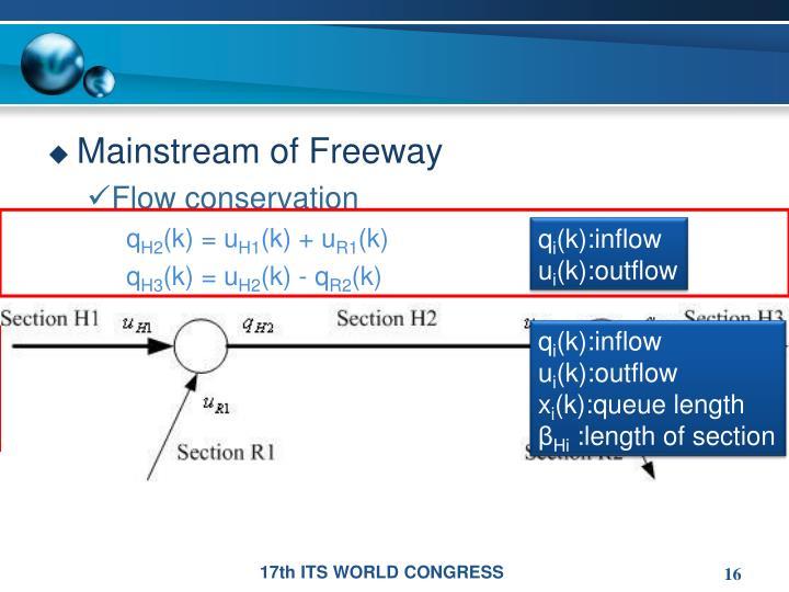 Mainstream of Freeway