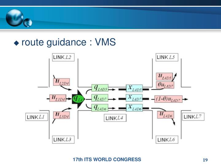 route guidance : VMS