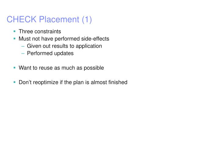 CHECK Placement (1)