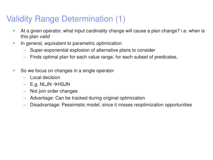 Validity Range Determination (1)