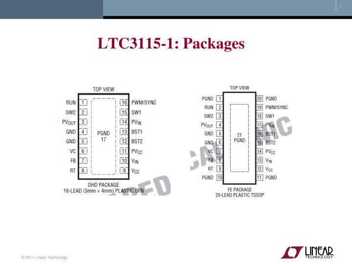 LTC3115-1: Packages