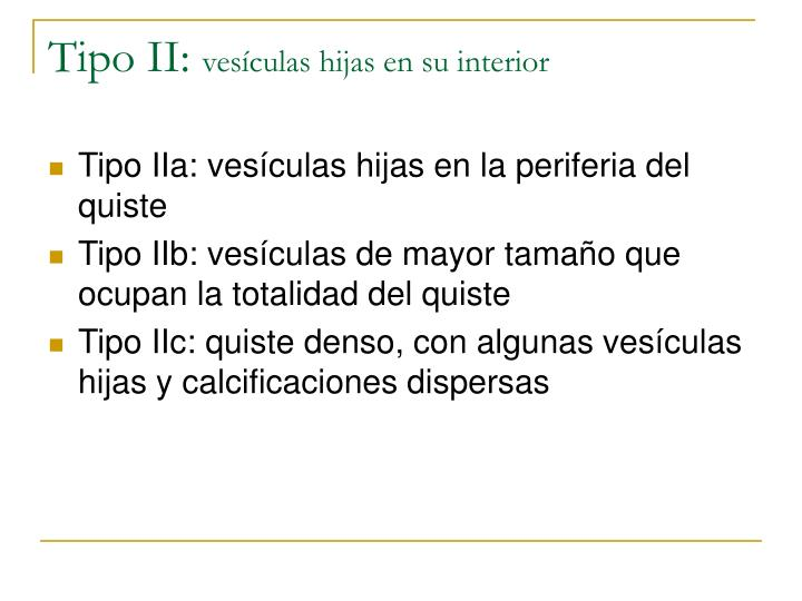 Tipo II: