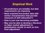 empirical work
