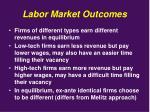 labor market outcomes
