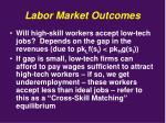 labor market outcomes1