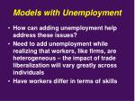 models with unemployment