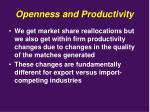 openness and productivity1