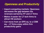 openness and productivity5