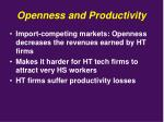 openness and productivity6