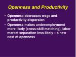 openness and productivity7
