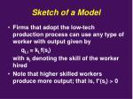 sketch of a model2