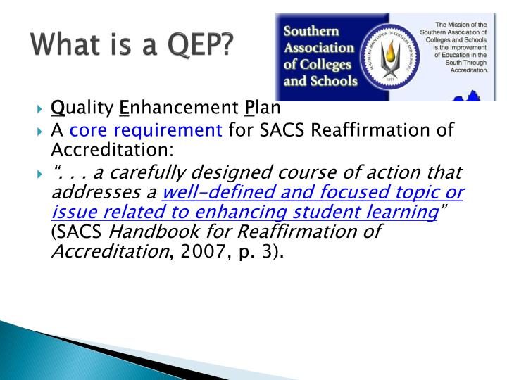 What is a qep