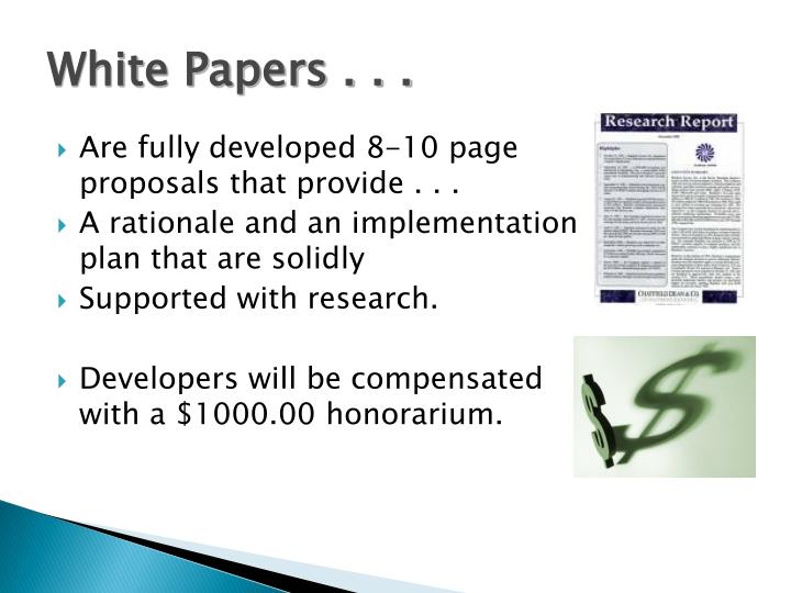 White Papers . . .