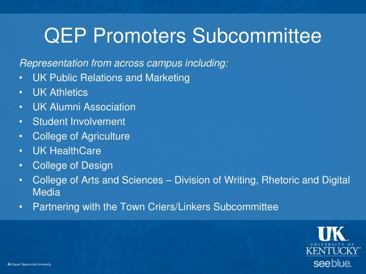 Qep promoters subcommittee