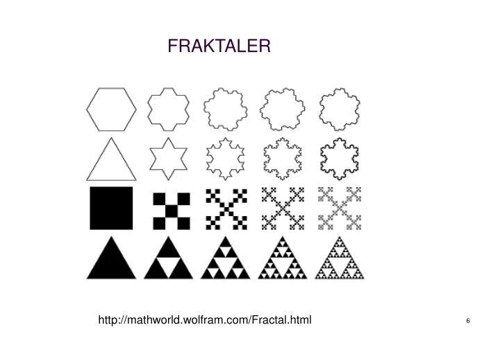 FRAKTALER