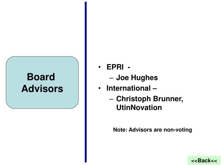 Board advisors
