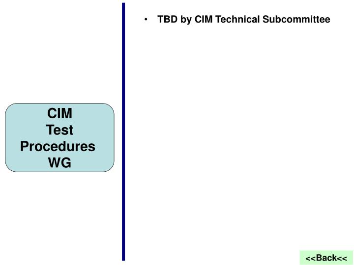 TBD by CIM Technical Subcommittee