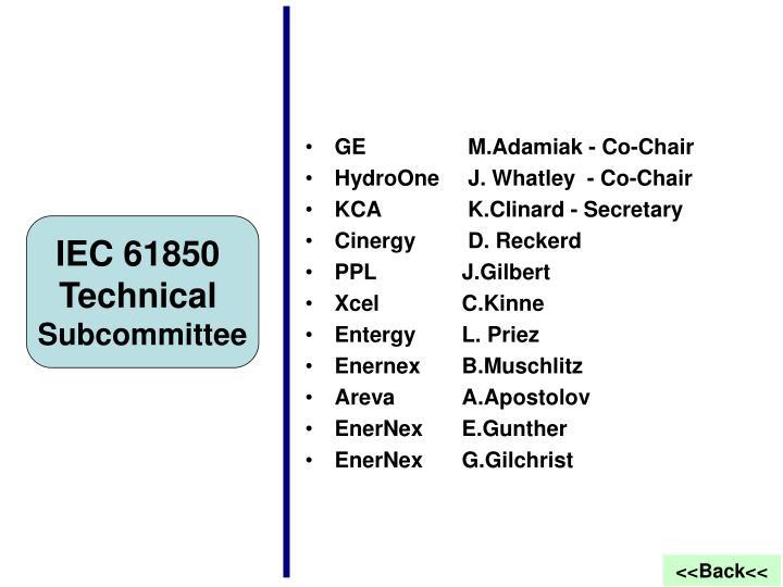 GE M.Adamiak - Co-Chair