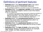 definitions of pertinent features