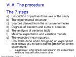 vi a the procedure