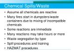 chemical spills waste
