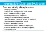 incompatible materials evaluation1