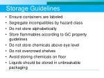 storage guidelines