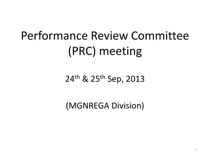 performance review committee prc meeting n.