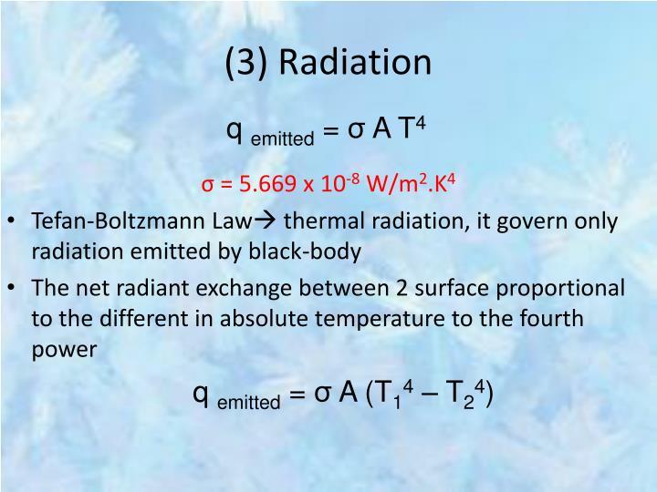 (3) Radiation