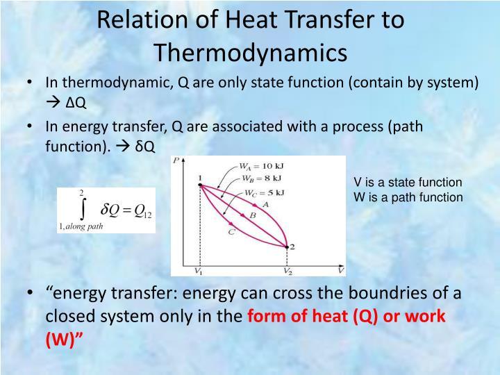 Relation of Heat Transfer to Thermodynamics