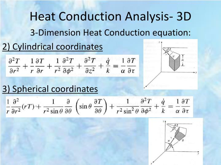 Heat Conduction Analysis- 3D