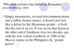 why non violence has failed in myanmar from scmp sept 2007