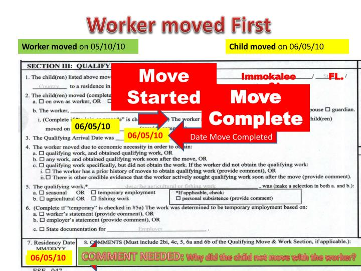Worker moved First